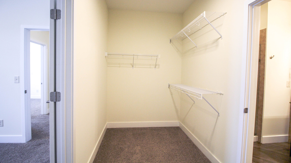 Master Bedroom Closet with Shelving.